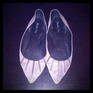 Elizabeth and James Metallic Flats - Sz 9